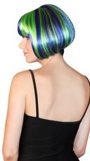 Deluxe Seashell Blue Mini Bob Wig - Seashell Blue