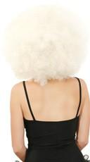Big White Jumbo Afro Wig - White