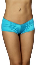 Wide Side Go-Go Shorts - Turquoise