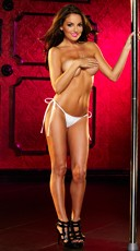 Solid Tie Side Thong - White