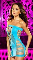 Erotic Foreplay Mini Dress - Neon Blue