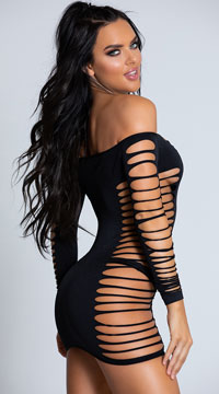 Single Lady Mini Dress - Black