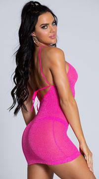 Neon Pink VIP Mini Dress - as shown