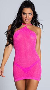 VIP Mini Dress - Neon Pink