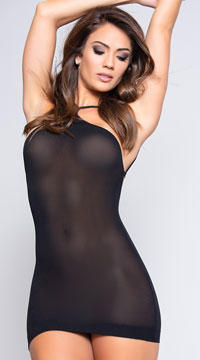 Black VIP Mini Dress - Black