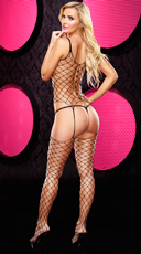 Crotchless Fencenet Bodystocking - as shown