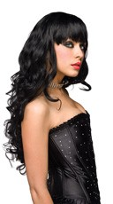 Missy Black Long Curly Wig - Black