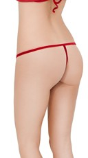 Yandy Velvet Crotchless G String - Red