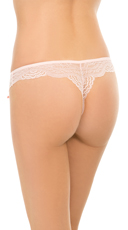 Yandy After Hours Pink Lace Thong - Pink