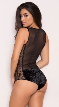 Yandy's The Valeria Black Bodysuit - Black
