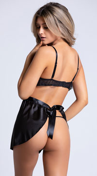 Yandy Frill Seeker Black Chemise Set - Black