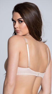Yandy Get Kissed Nude Lace Bra - Nude
