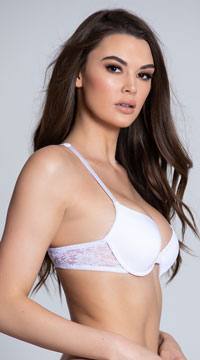 Yandy Back Up White Racerback Bra - White