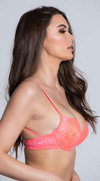 Yandy Summertime Melon Lace Bra