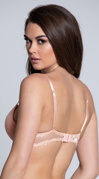 Yandy First Kiss Sand Demi Bra - Sand