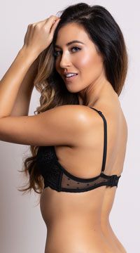 Yandy Vintage Romance Black Bra - as shown