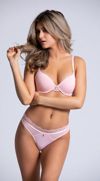 Yandy The Marcelle Pink Thong Panty - Pink