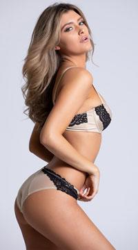 Yandy The Sessilee Beige Bikini Panty - Beige