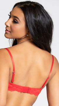 Yandy Make Me Blush Red Balconette Bra - Red