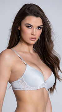 Yandy Sweet On You Grey Bra - Grey