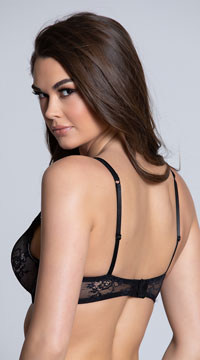 Yandy Higher Expectations Black Demi Bra - Black