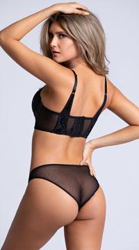 Yandy Velvet Nights Black Bikini Panty - Black
