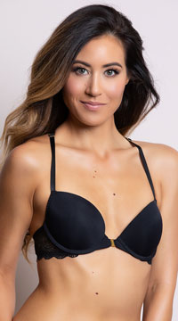 Yandy Sparks Fly Black Racerback Bra - Black