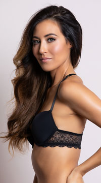 Yandy Sparks Fly Black Racerback Bra - as shown