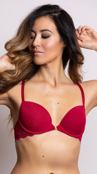 Yandy Sparks Fly Red Racerback Bra - Red