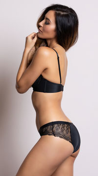 Yandy Sleek and Chic Black Hipster Panty - as shown