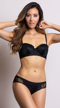 Yandy Sleek and Chic Black Hipster Panty - Black