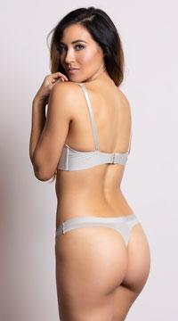 Yandy Sleek and Chic Nude Thong - Nude