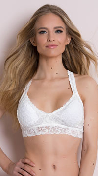 Yandy Best Lace Forward White Bralette - White