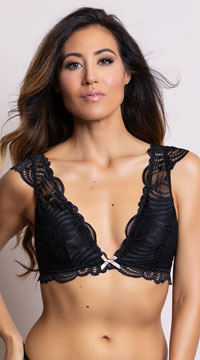 Yandy Sweet As Can V Black Bralette - Black