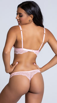 Yandy The Cameron Pink Thong Panty - Pink