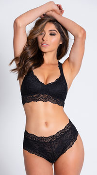 Yandy Never Let Me Go Black Hipster Panty - Black