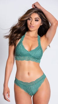 Yandy Never Let Me Go Green Thong - Green