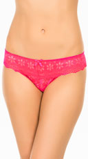Yandy Double Up Daisy Pink Thong - Pink