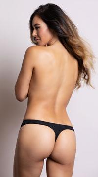 Yandy's The Clara Black Thong - Black