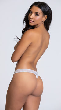 Yandy Chill Out Grey Thong Panty - Grey