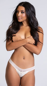 Yandy Chill Out Ivory Thong Panty - Ivory