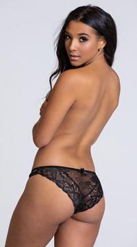 Yandy Free Floater Black Bikini Panty - Black