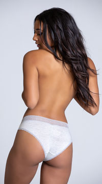 Yandy Chill Out Grey Hipster Panty - Grey