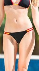 Exclusive Black and Maroon Team Spirit Bikini Bottom - Black/Maroon