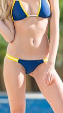 Exclusive Blue and Maize Team Spirit Bikini Bottom - Blue/Maize