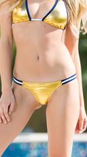 Exclusive Gold and Blue Team Spirit Bikini Bottom - Gold/Blue