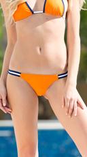 Exclusive Orange and Blue Team Spirit Bikini Bottom - Orange/Blue