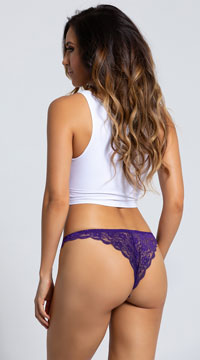 Yandy Love Me Lace Bikini Panty - Purple