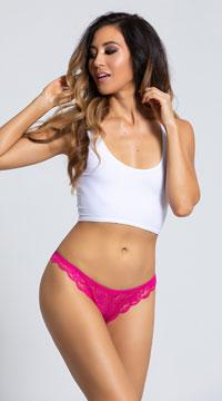 Yandy Love Me Lace Bikini Panty - Fuchsia