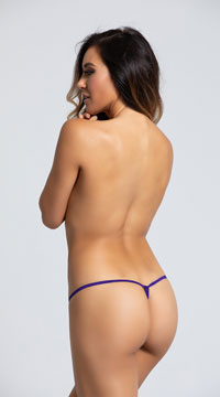 Yandy Crotchless Heartbreaker Thong Panty - Purple